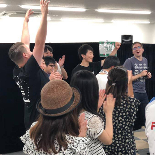 Volunteer at church in Hiroshima