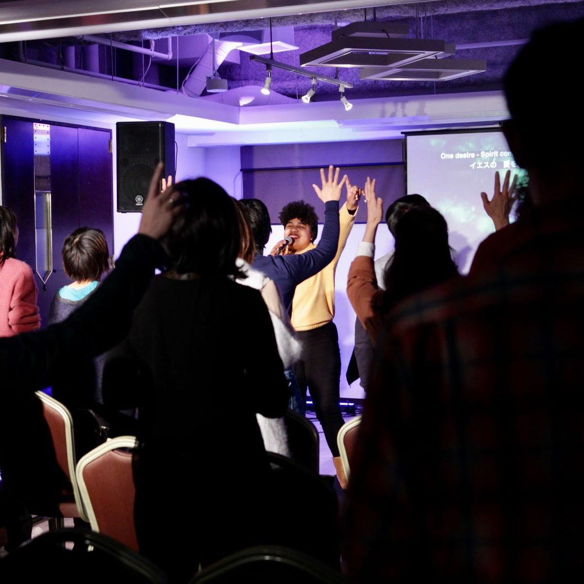 Lifehouse Sendai people worshipping